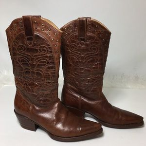 Steve Madden Woman's leather brown boots SZ 7.5